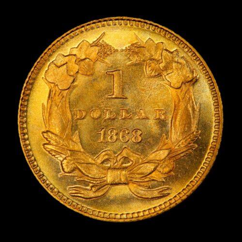 1868 gold dollar