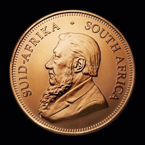 Sydafrikansk Krügerrand 1 Oz -face-