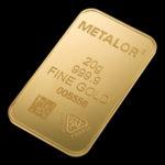 Metalor Guldbarre Stanset 20 G.