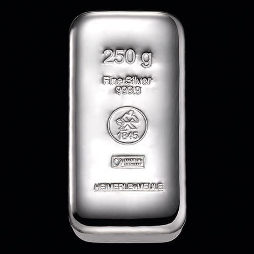 Sølvbarre Støbt 250g