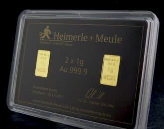Guldbarre Standset 2 x 1 g