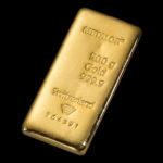 Metalor Guldbarre Støbt 500 G.