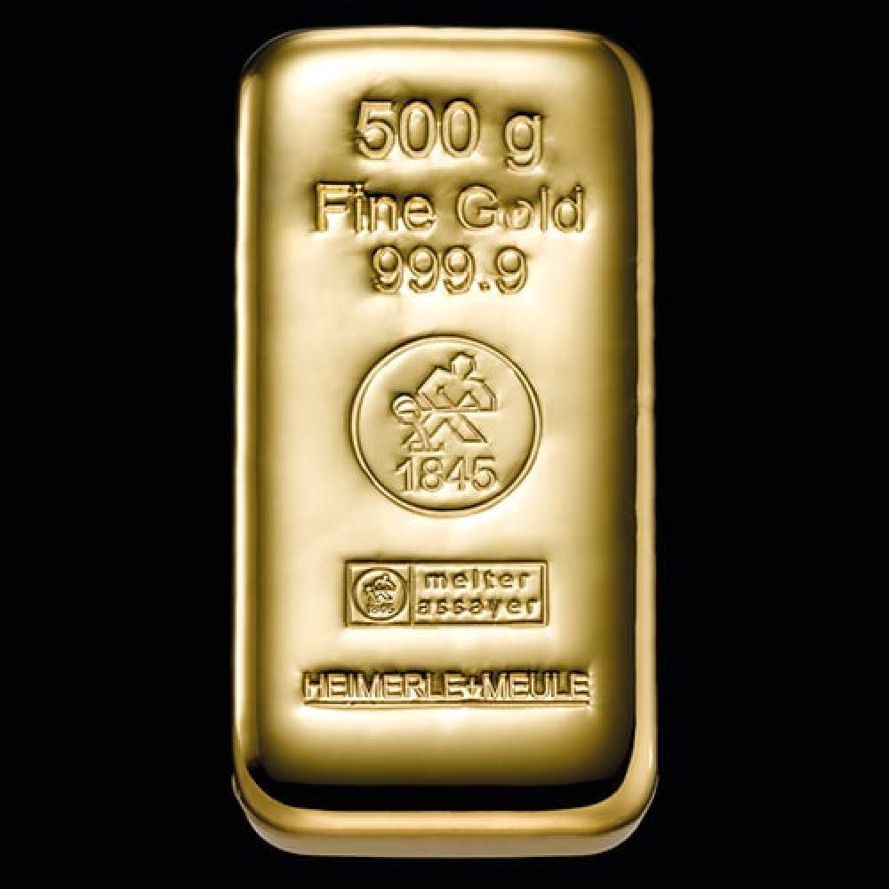Guldbarre Støbt 500g