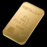 Metalor Guldbarre Stanset 50 G.