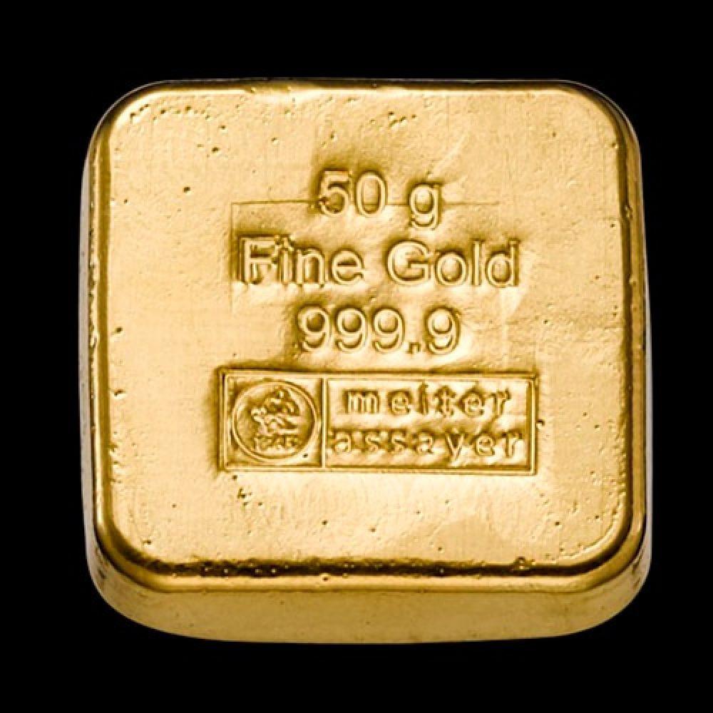 Guldbarre Støbt 50g back