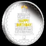 happy birthday sølvmønt