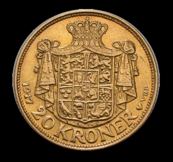 Christian x 20 kr guld rigsvåben