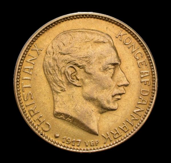 Christian X 20 kr guld