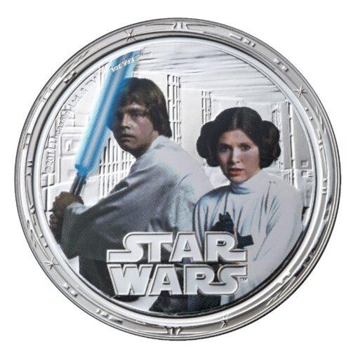 star wars sølvmønt