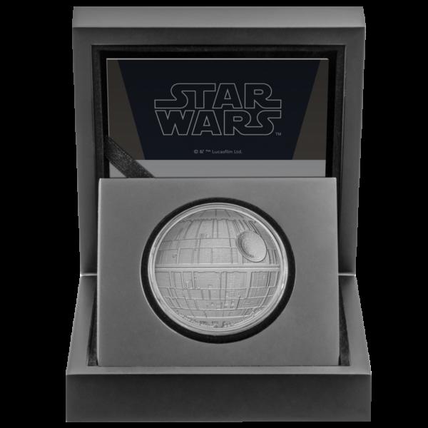 2$ New Zealand Mint 2020 - 1 Oz - STAR WARS™ - Death Star™ box