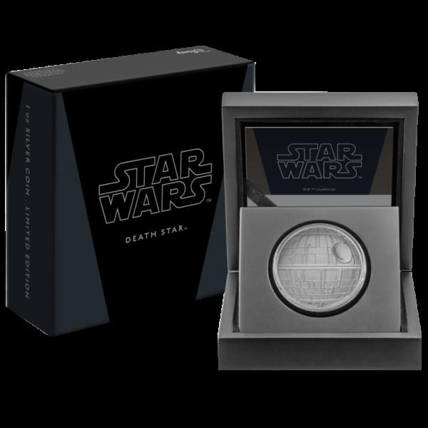 2$ New Zealand Mint 2020 - 1 Oz - STAR WARS™ - Death Star™ pack