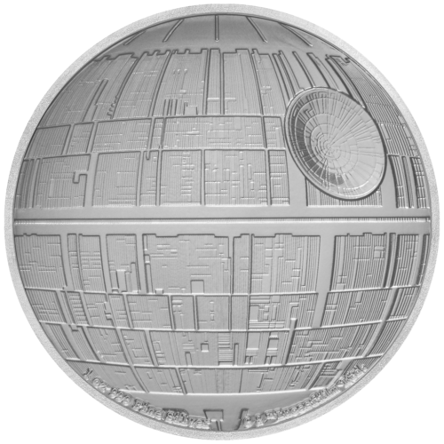 2$ New Zealand Mint 2020 - 1 Oz - STAR WARS™ - Death Star™