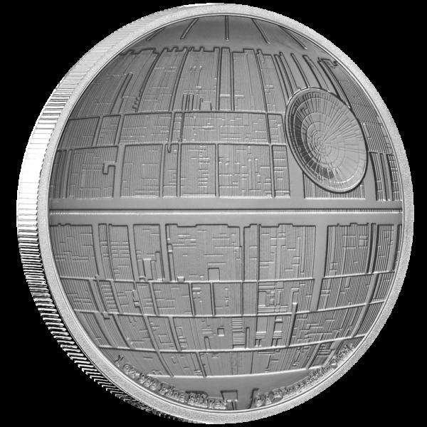 Niue-2020-2$-Star-Wars-Death-Star-1-Oz-Silber-PP-VS-Seite