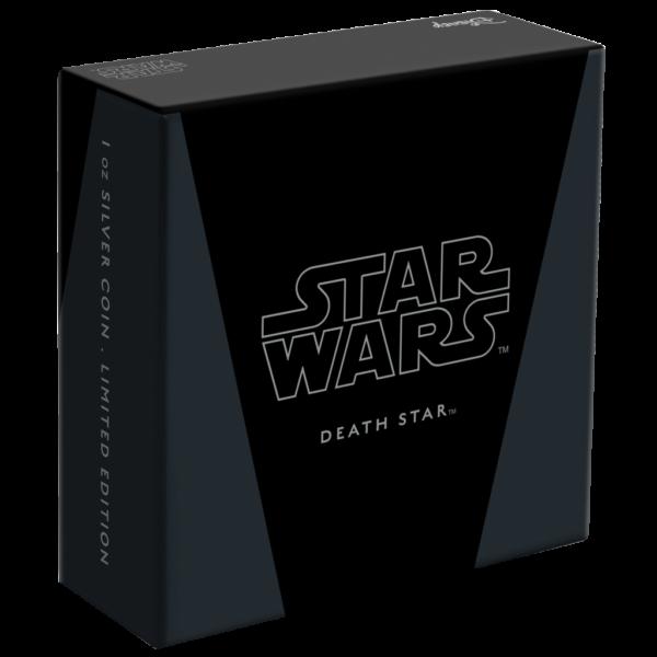 2$ New Zealand Mint 2020 - 1 Oz - STAR WARS™ - Death Star™ packing