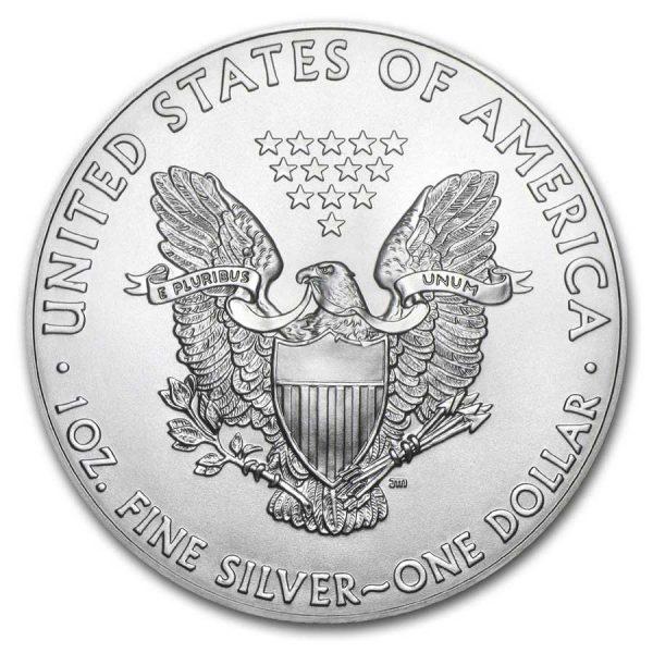 American Silver Eagle 1Oz back