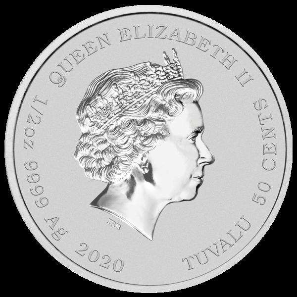 Homer Simpson™ ½ Oz silver coloured coin back