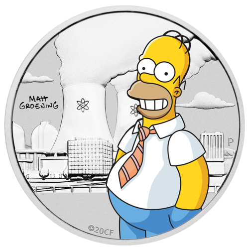 50 Cent Perth Mint 2020 - ½ Oz - Homer Simpson™ Sølvmønt