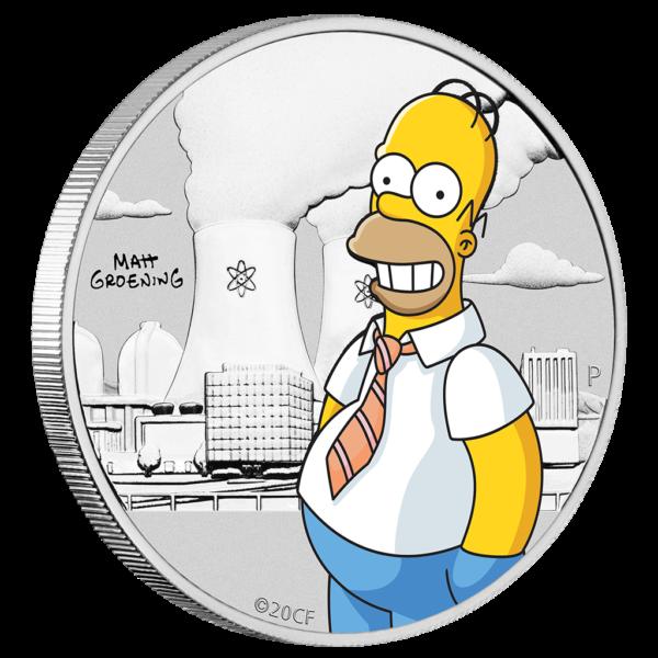 50 Cent Perth Mint 2020 - ½ Oz - Homer Simpson™ silber