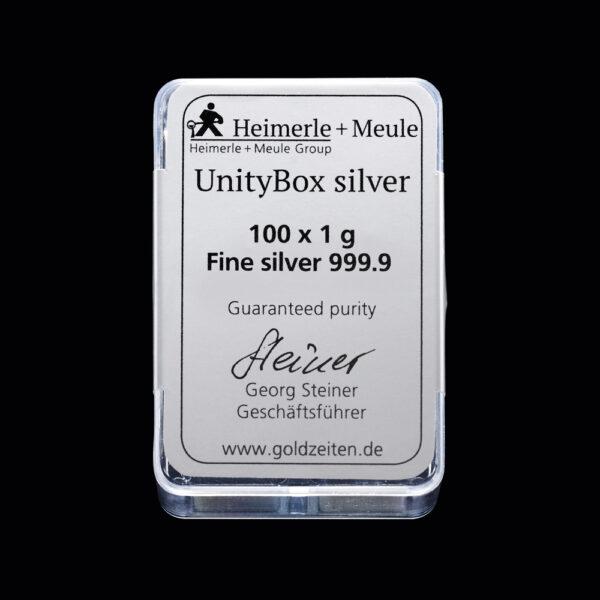 UnityBox Silver 100 X 1g