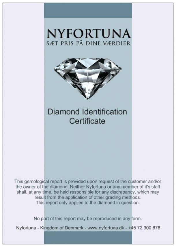 Diamantcertifikat