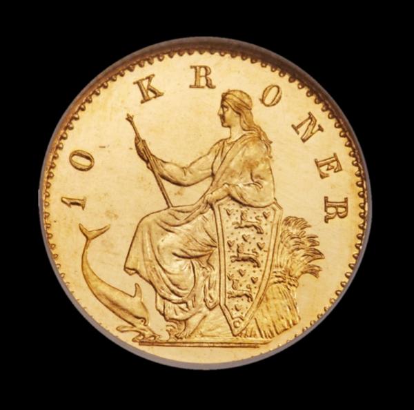 christian ix 10 kr guldmønt bagside