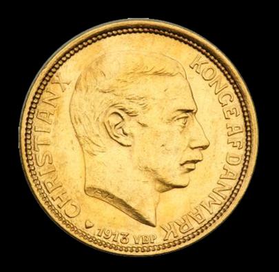 christian x 10 kr guldmønt