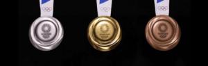 er ol medaljer ægte guld