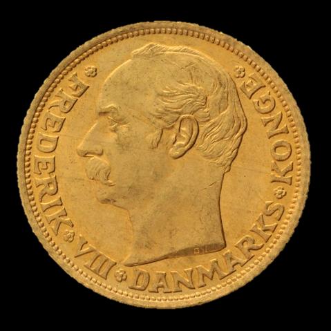 frederik viii 10 kr guldmønt