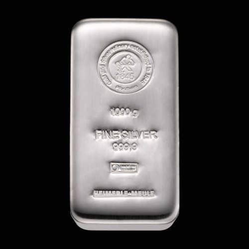 Sølvbarre Støbt 1000 G