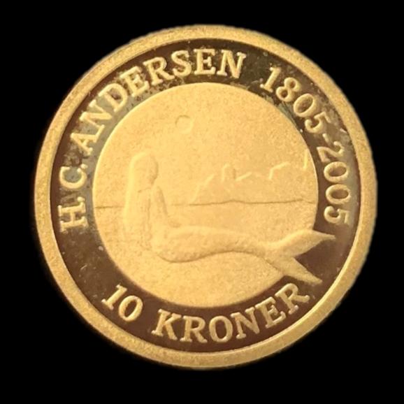 H C Andersen havfrue mønt for