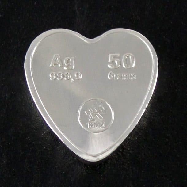 Sølvhjerte 50 G. back