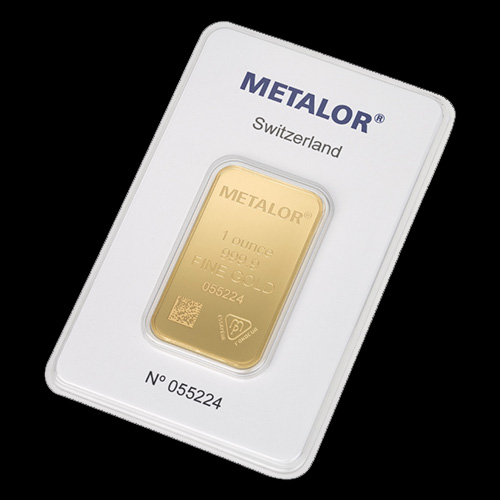 Nyfortuna 1 ounce guldbarre fra Metalor