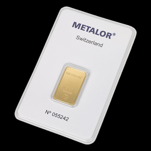 Nyfortuna 5 gram guldbarre fra Metalor
