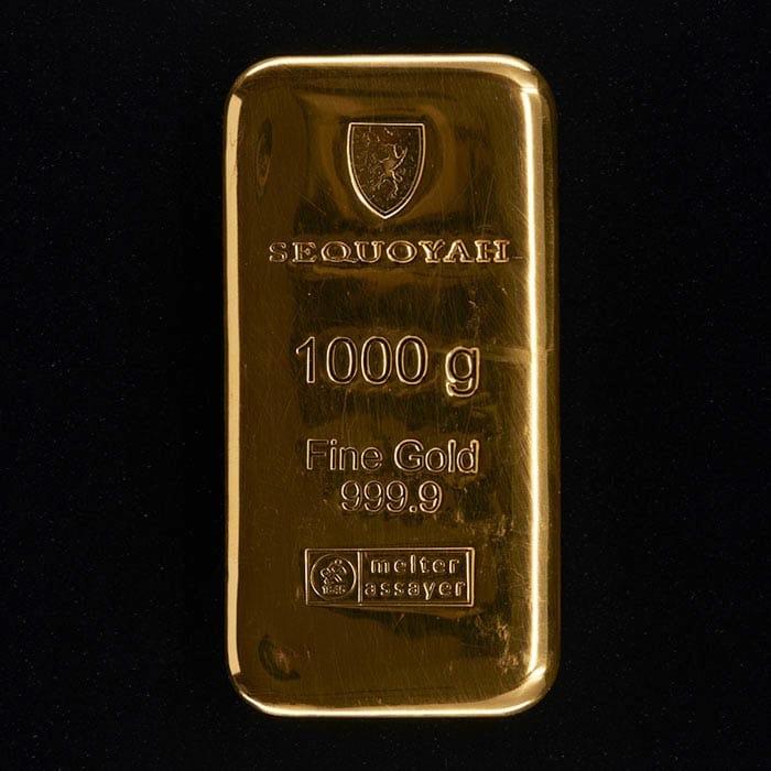 pris på guldbarre