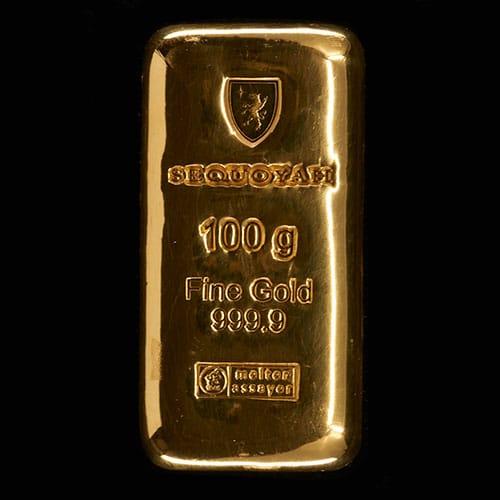 Guldbarre Støbt 100g
