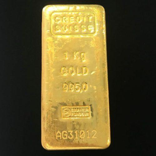 Guldbarre Credit Suisse Støbt 1000g