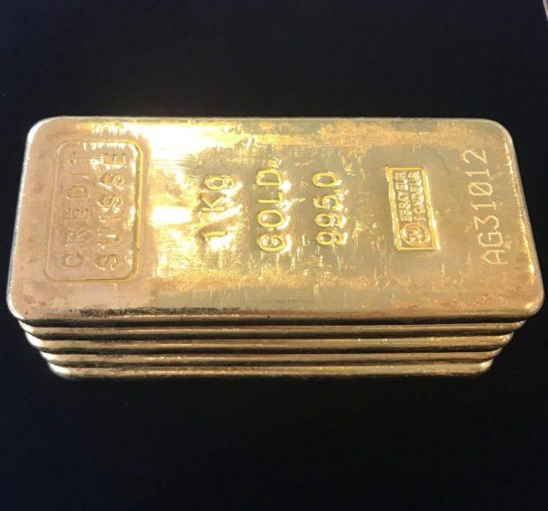 Guldbarre Credit Suisse Støbt 1000g 2